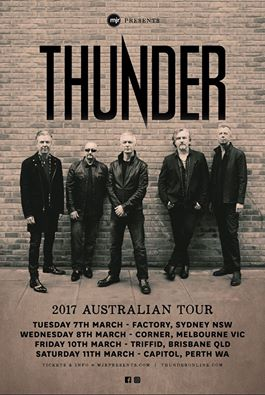Thunder: Australian Tour Announced!