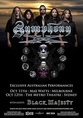 Symphony X: Australian Tour Support Announced!