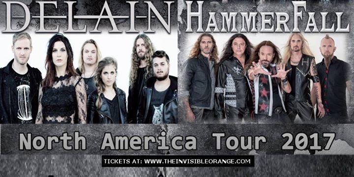 Delain HammerFall Tour Flyer